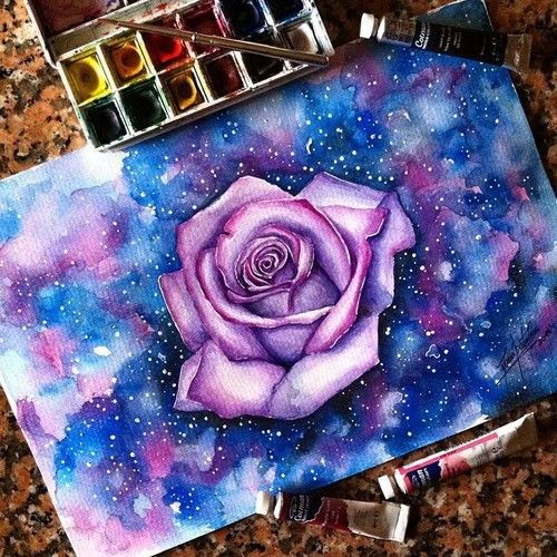 Drawn galaxy Galaxy Best colors flower 25+