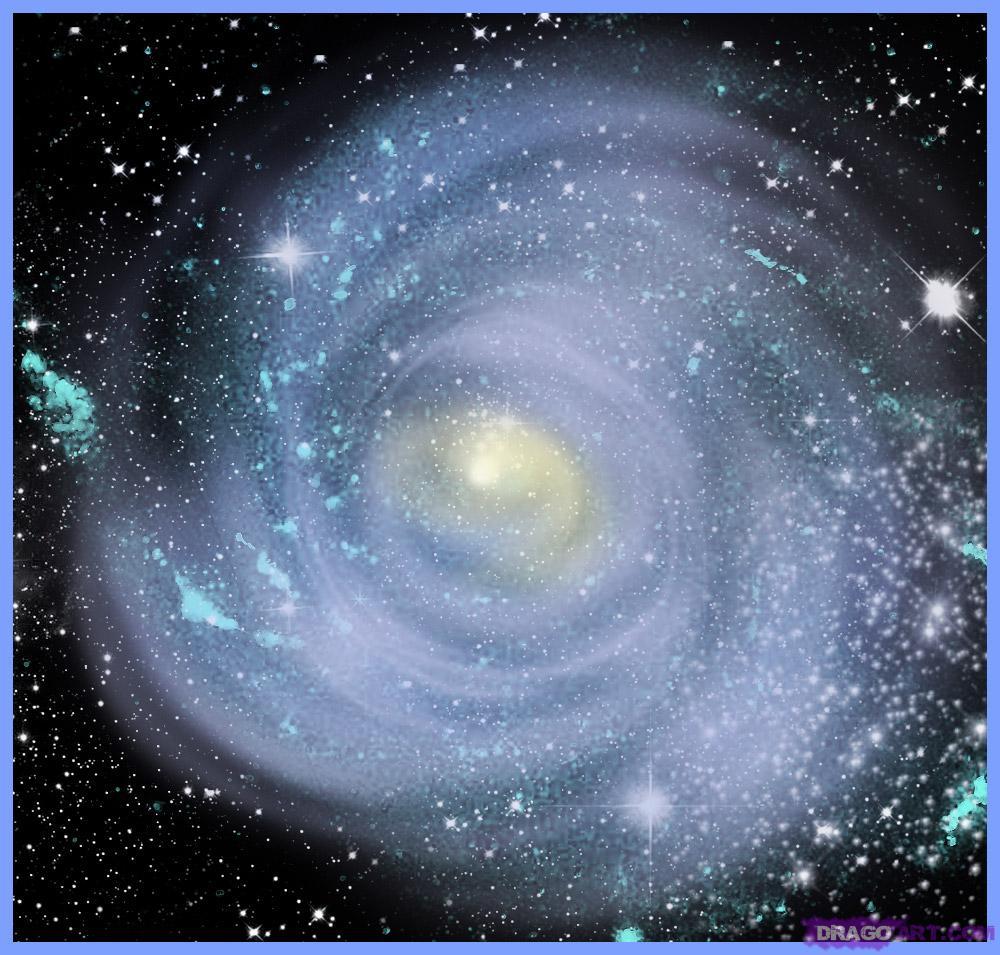 Drawn galaxy Galaxy Draw Space to a