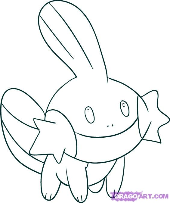 Drawn amd pokemon Draw Characters pokemon Mudkip by