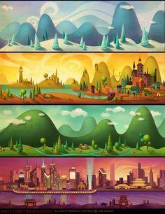 Drawn background adventure game #15