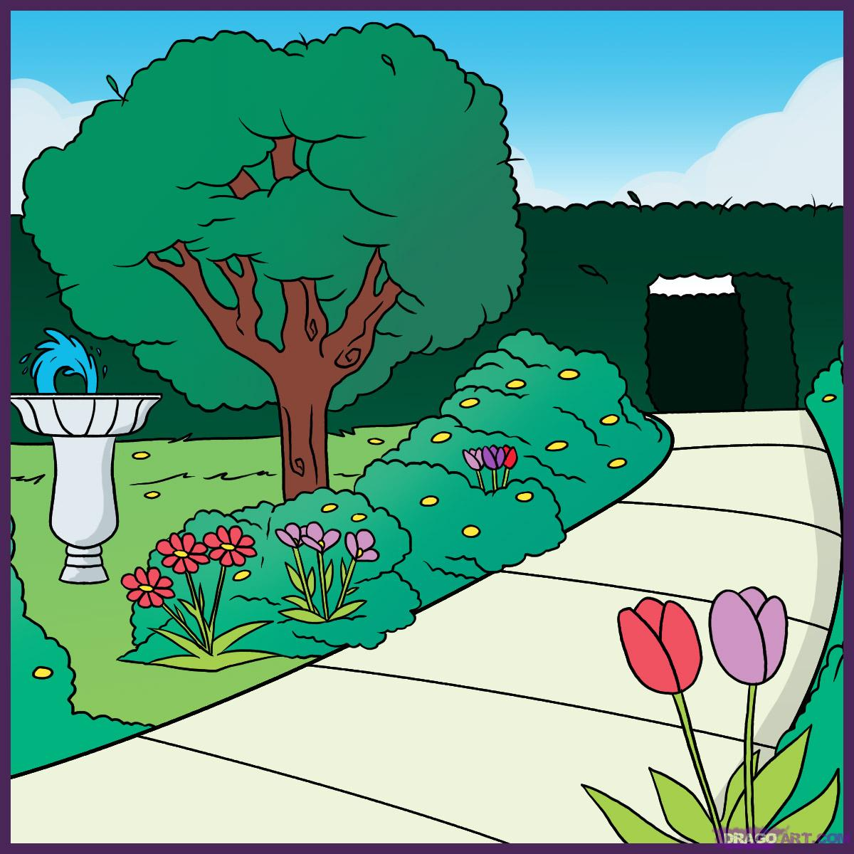 Drawn garden Step by to how