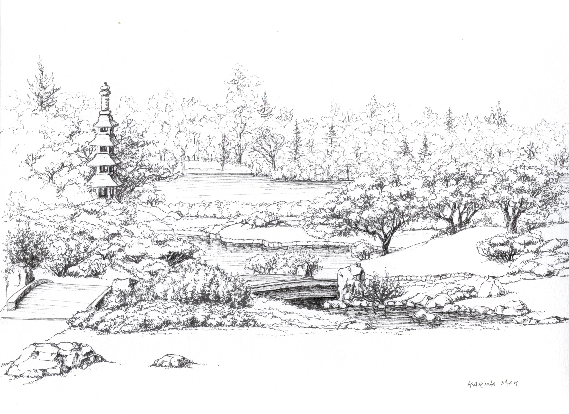 Drawn amd garden Drawing Realistic Art Garden Drawing