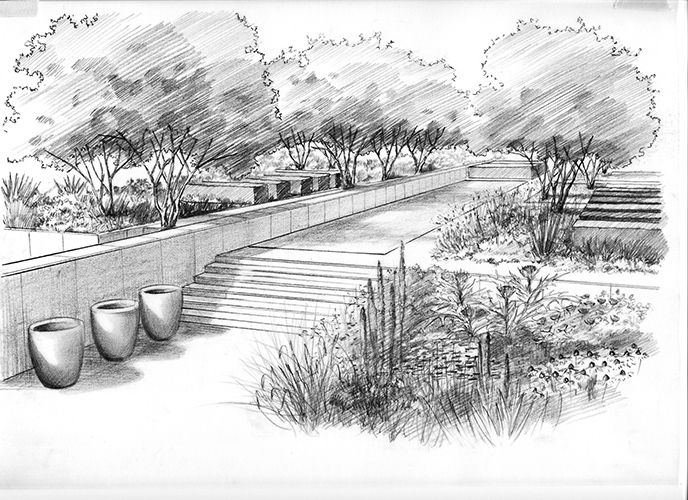 Drawn amd garden Master Pinterest perspective drawing sketch