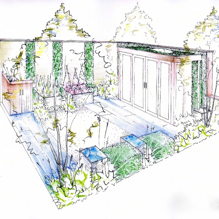 Drawn amd garden Hand tuinen garden at Design