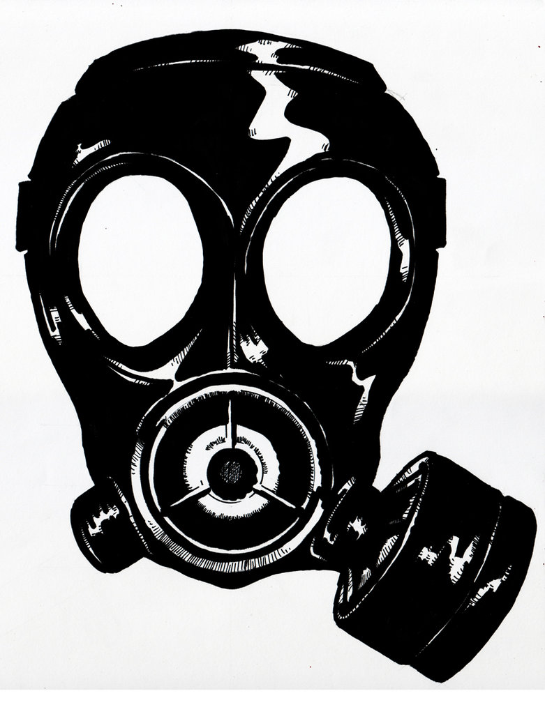Gas Mask clipart chemical Silhouette mask silhouette Silkscreen Silhouette