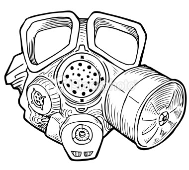 Drawn gas mask : designs tattoo Page interfaces