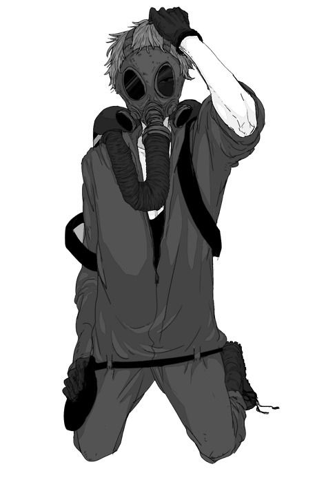 Drawn gas mask MasksManga Charecters Pinterest GuysDrawingBoys BoyManga