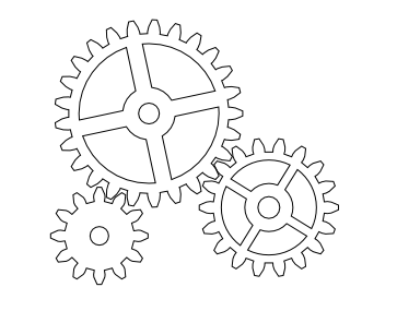 Drawn gears Gears [fedora to gears] How