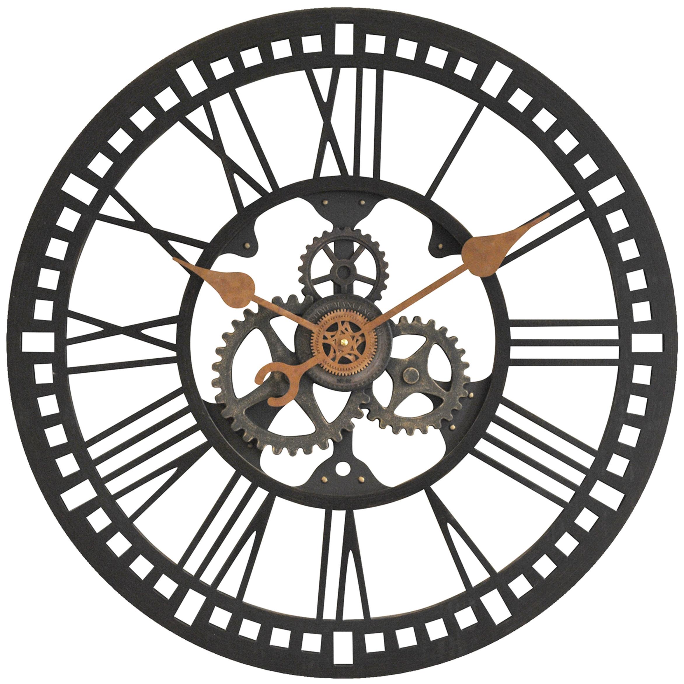 Drawn gears Gears Exposed Wall Full Clock