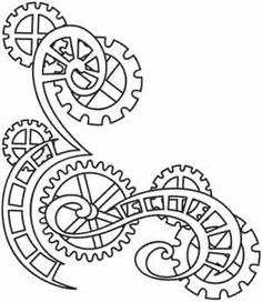 Drawn gears On best & steampunk clocks