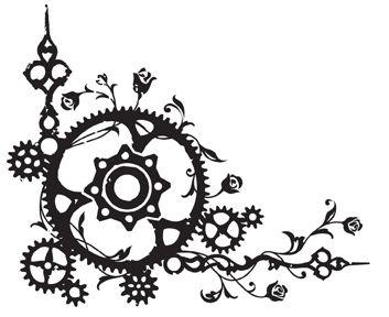 Drawn gears Best on steampunk Pinterest Search