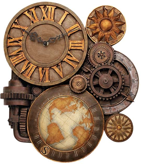 Drawn gears Time Gears Clock of Wall