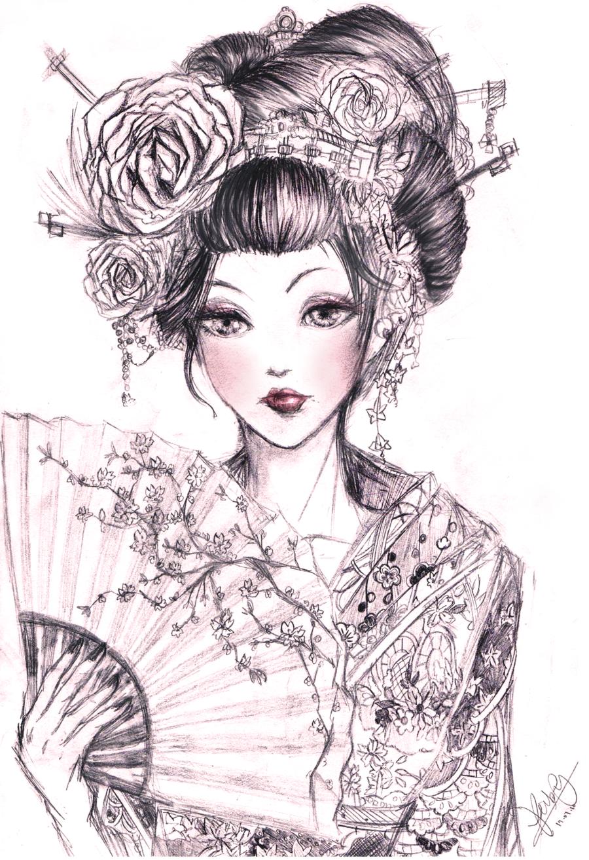 Drawn geisha #12