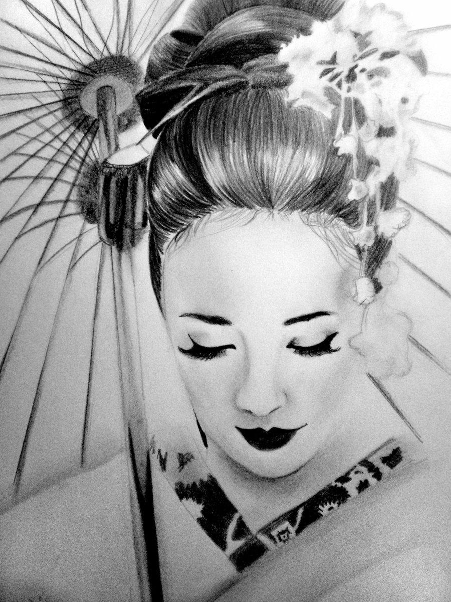 Drawn geisha #9