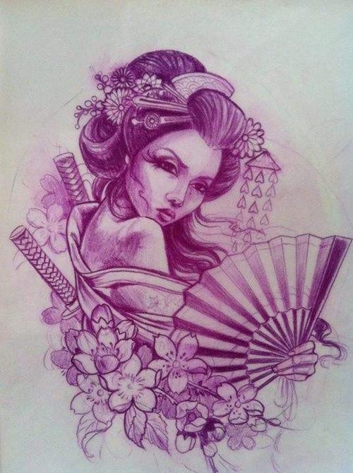 Drawn geisha #11