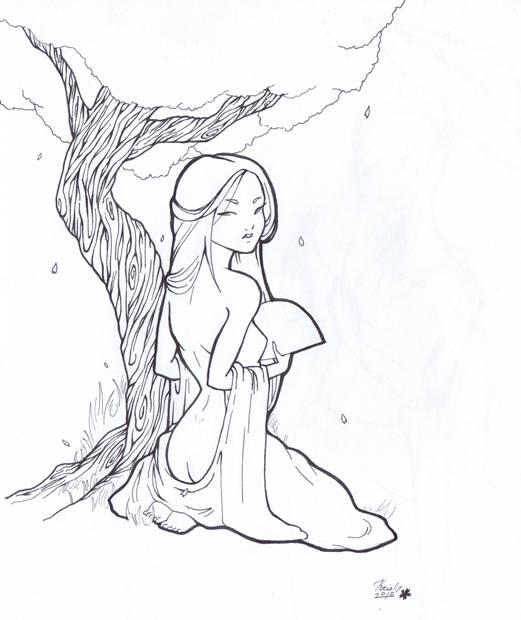 Drawn geisha #10