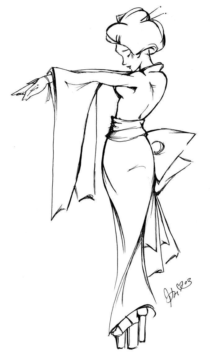 Drawn geisha #13