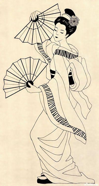 Drawn geisha #14