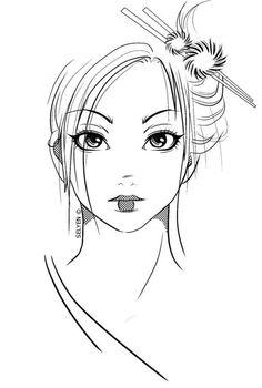 Drawn geisha Con drawing ideas manga art