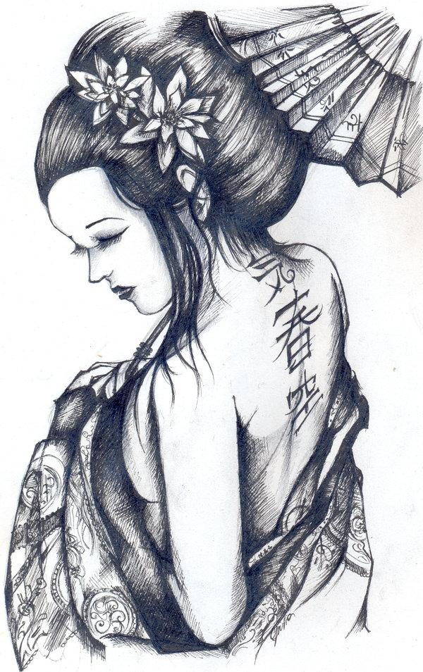 Drawn geisha On ~ deviantart Design Geisha