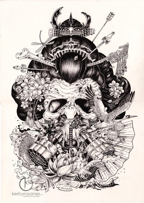 Drawn geisha #3