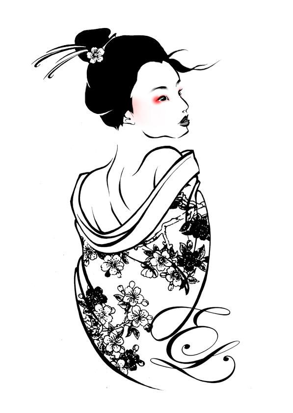 Drawn geisha Kerinewton Geisha Geisha DeviantArt on