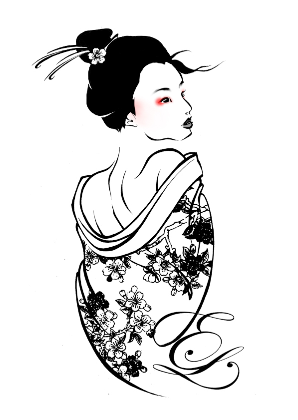 Drawn geisha #6