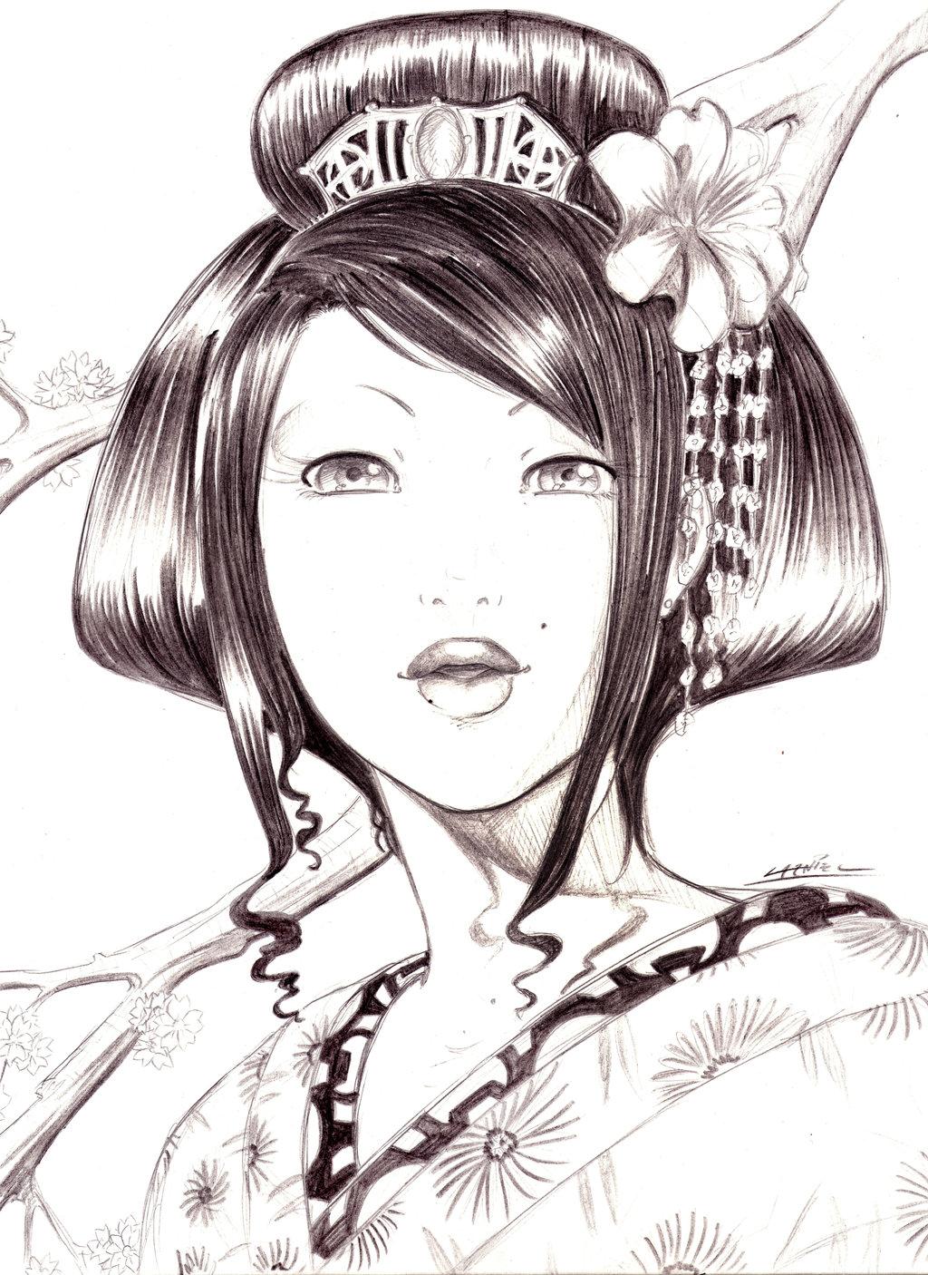 Drawn geisha Com deviantart sanozukeloco @deviantART Geisha