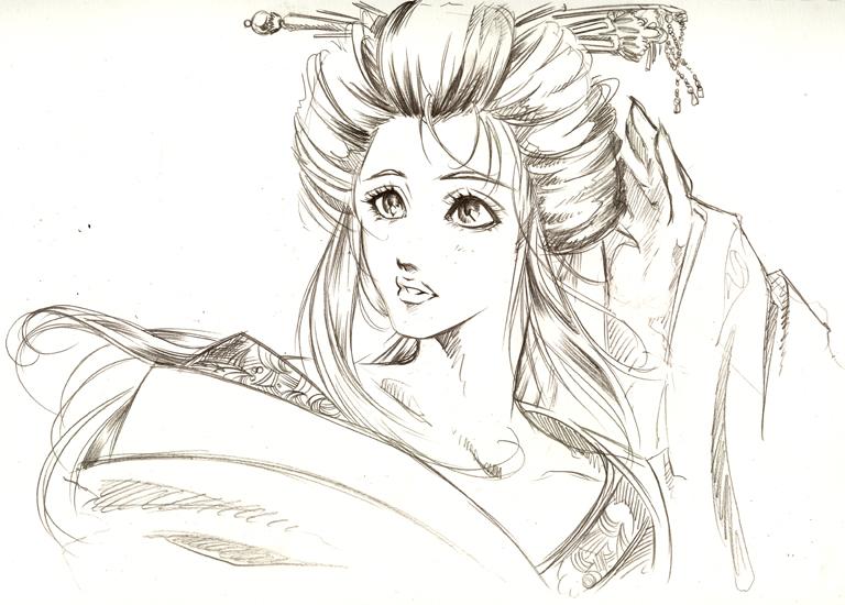 Drawn geisha #15