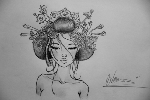 Drawn geisha Art Geisha Images Geisha Drawing