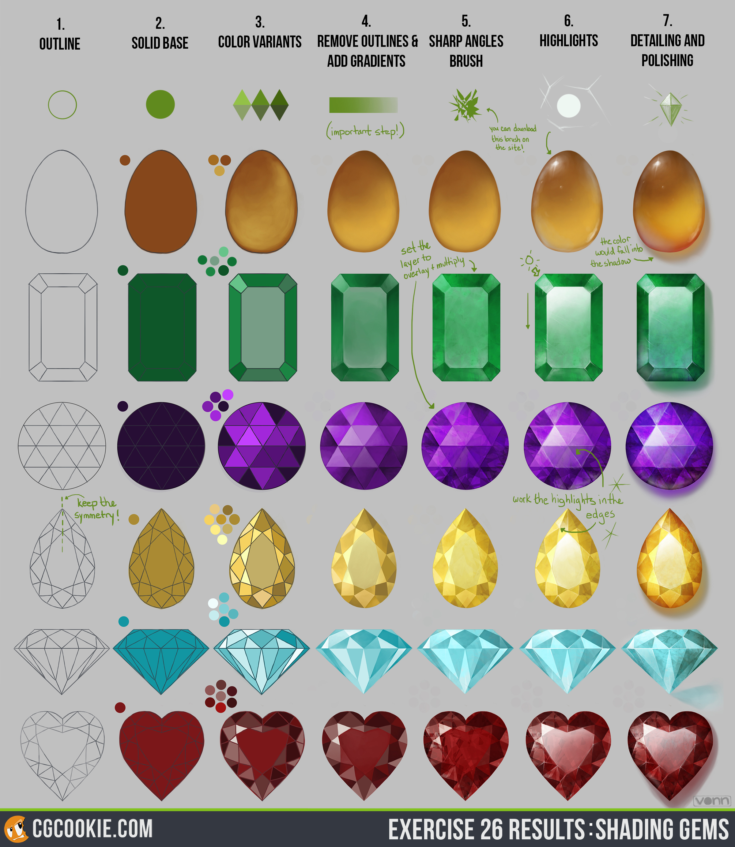 Drawn jewelry wedding ring Shading Cookie Gems CG exercise_26_results
