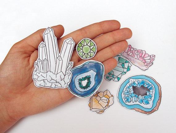 Drawn crystals Range a magnets range Precious