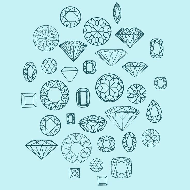 Drawn diamonds shape cut #7