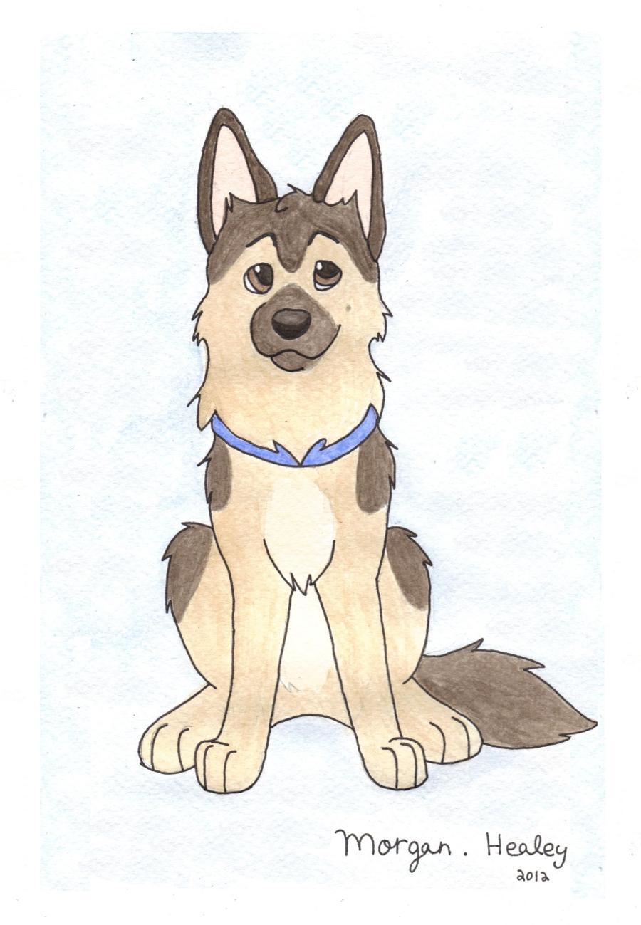 Drawn puppy german shepherd Husky paintings Shepherd by on
