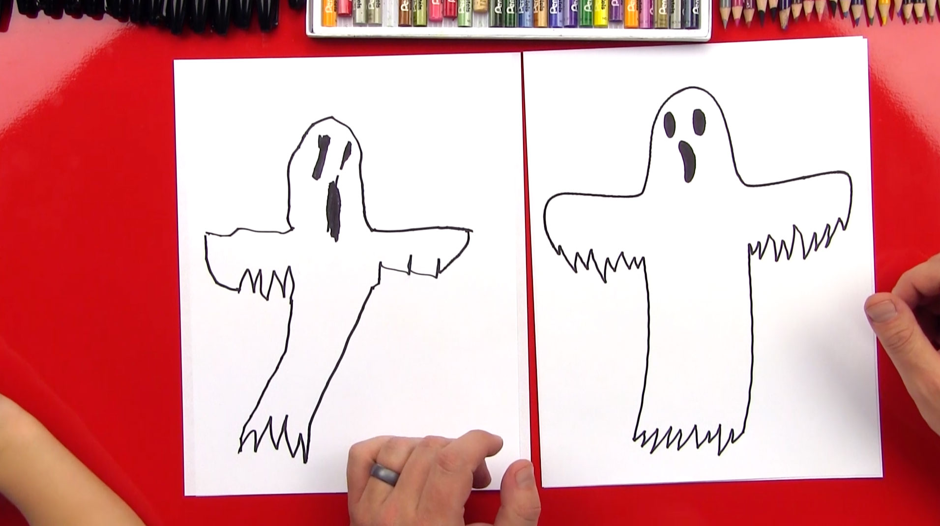 Drawn haunted house hounted Art Hub A  Ghost