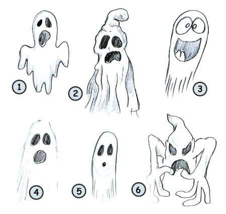 Drawn ghostly Draw cartoon a from to