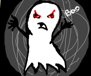 Drawn ghostly angry Ghost ghost Scary by Scary