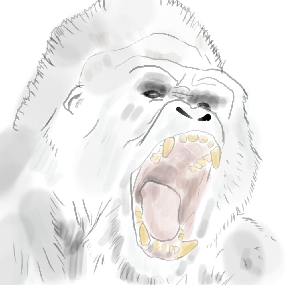 Drawn ghostly angry MeBeGreen Angry Gorilla DeviantArt Angry