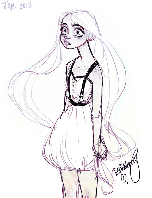 Drawn ghostly blue By  CHARACTER Prigmore Coraline