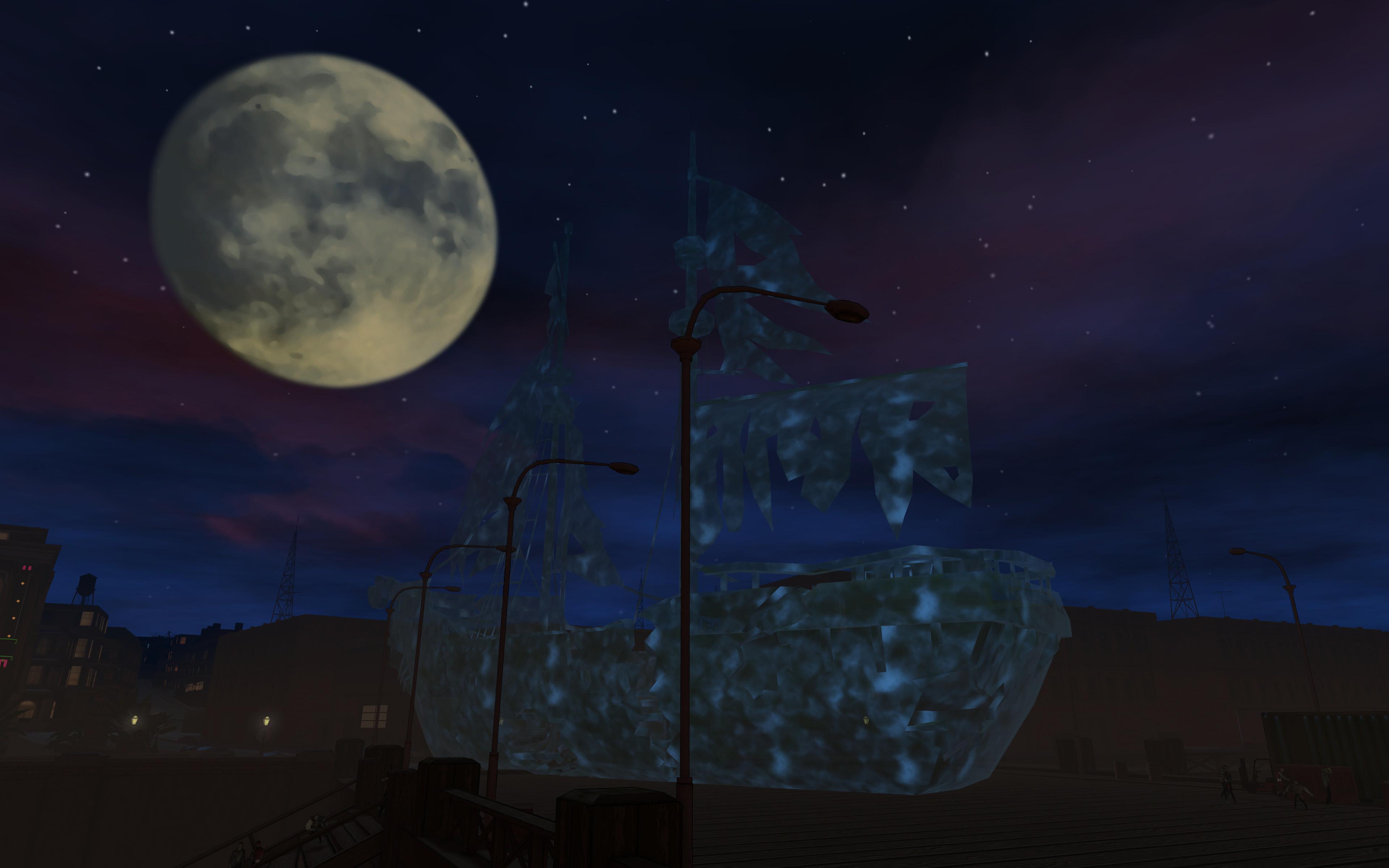 Drawn ghostly blue Ship Bringing Online depths Vibora