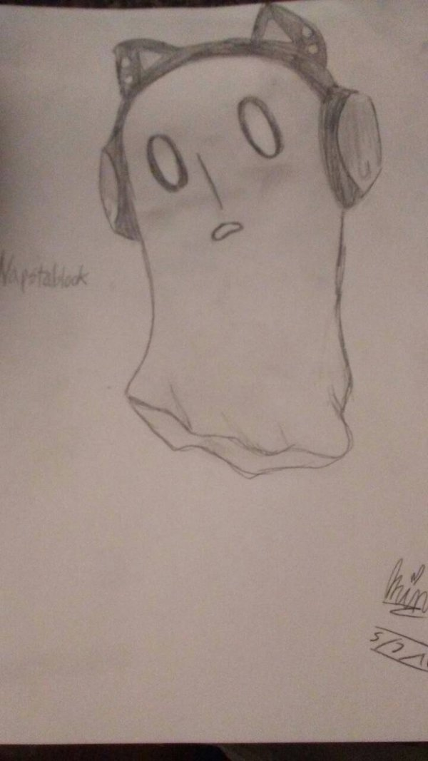 Drawn ghostly emo Emo da Napstablook on animeGAMER808