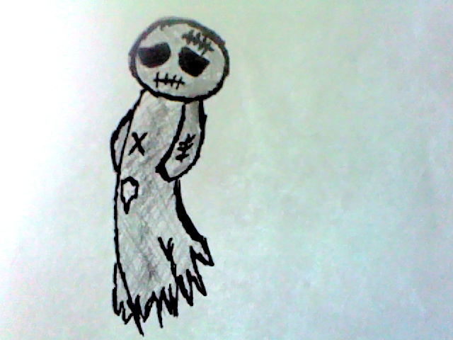 Drawn ghostly emo A by Drakonwolf by emo
