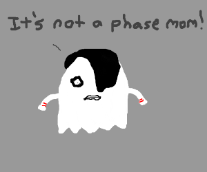 Drawn ghostly emo OmegaFyre) by ghost ghost emo