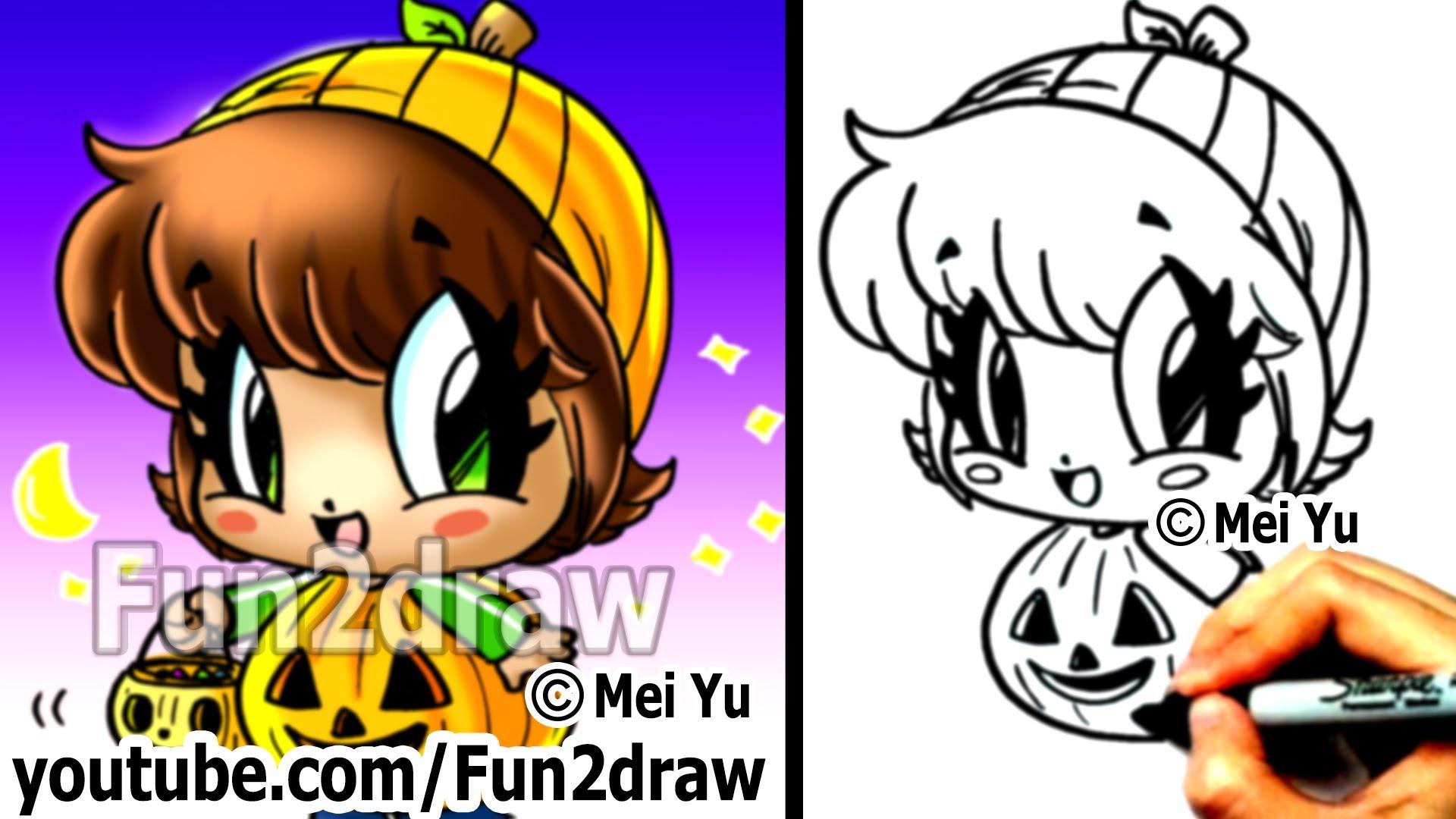 Drawn pumpkin fun2draw People Draw to How How