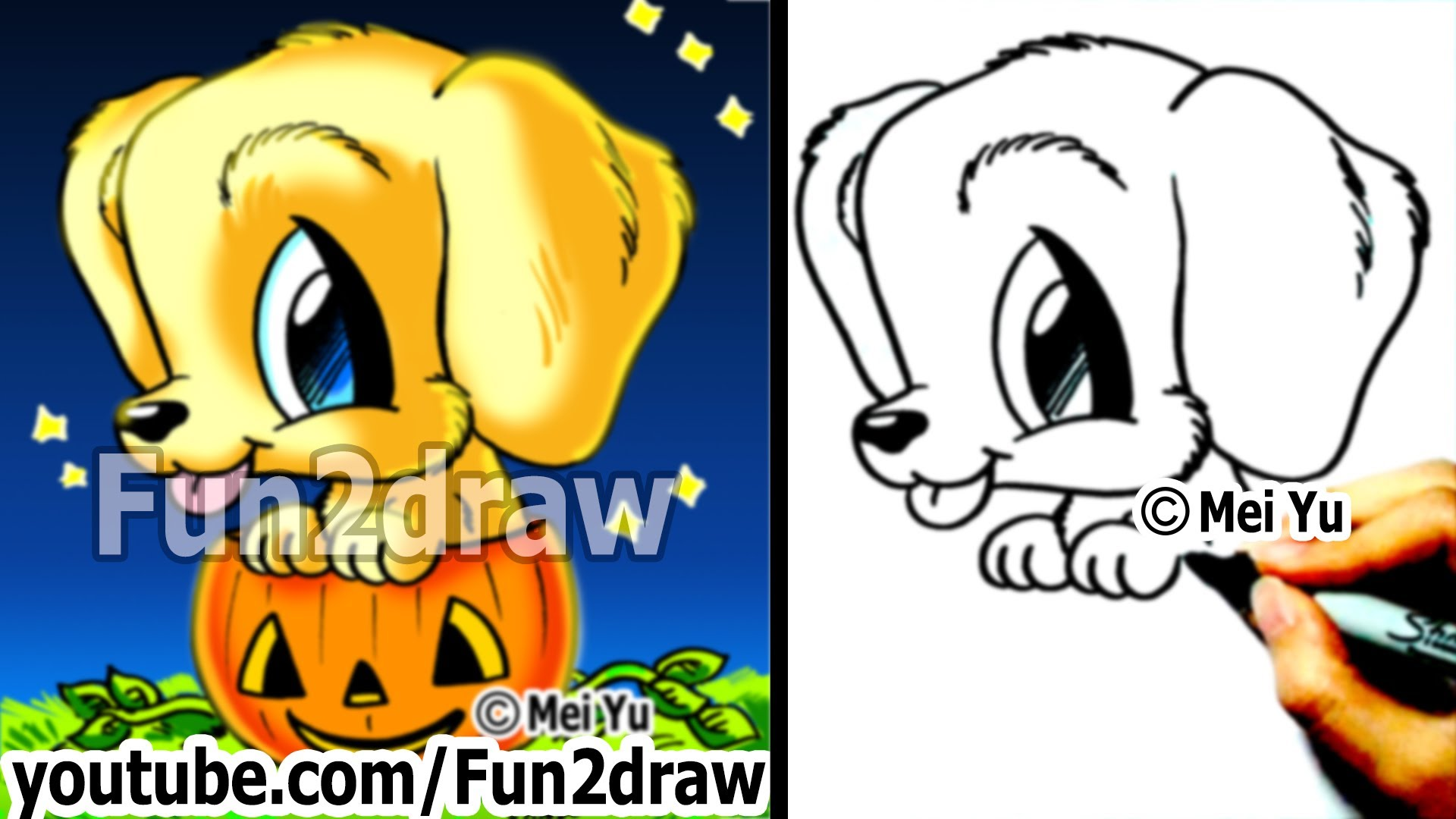 Drawn puppy fun2draw Cute Drawings Golden Dog a