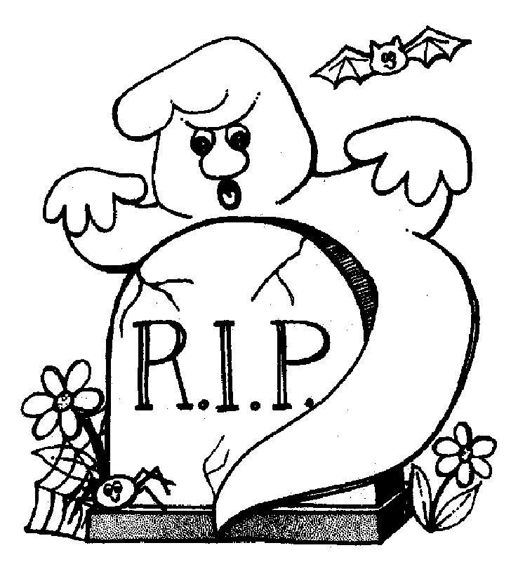 Drawn ghostly halloween coloring Free Ideas Pages Coloring Pages