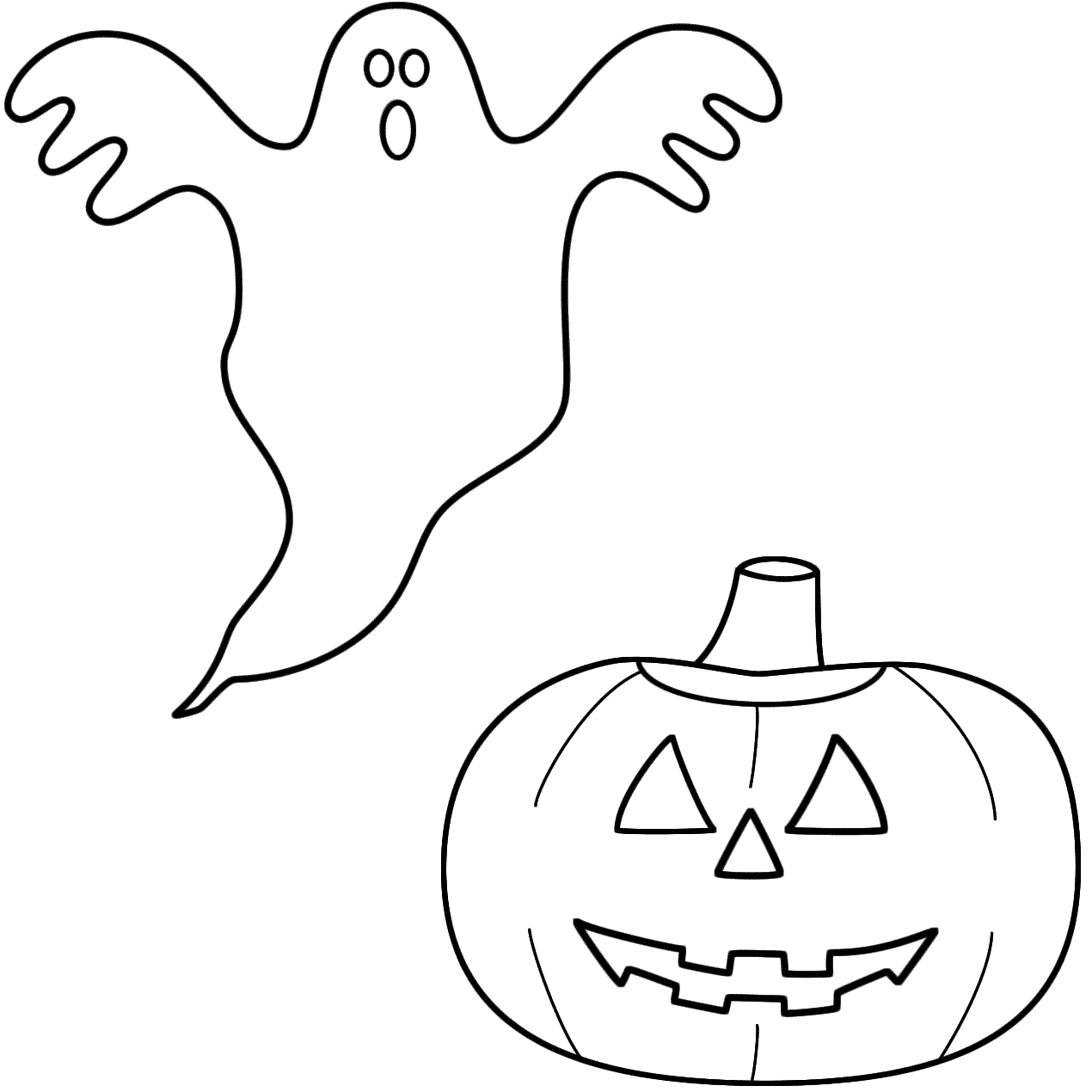 Drawn ghostly halloween coloring Lantern o pumpkin/jack coloring page