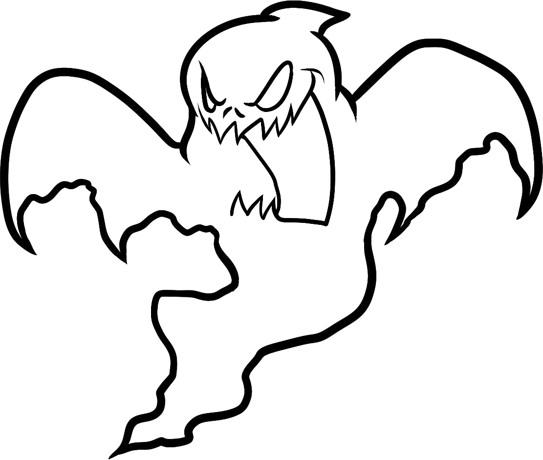 Drawn ghostly halloween coloring Ghost Free #2 Ghost Free