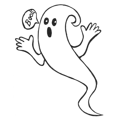 Drawn ghostly happy cartoon Ghosts Now to Easy Lesson