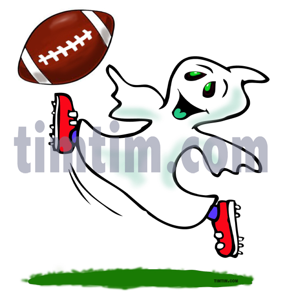 Drawn ghostly happy cartoon From soccer ghost category Cartoon